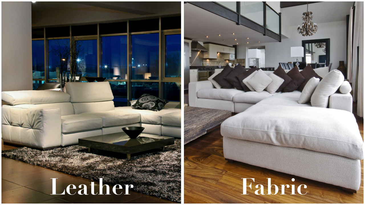Leather vs Fabric sofa