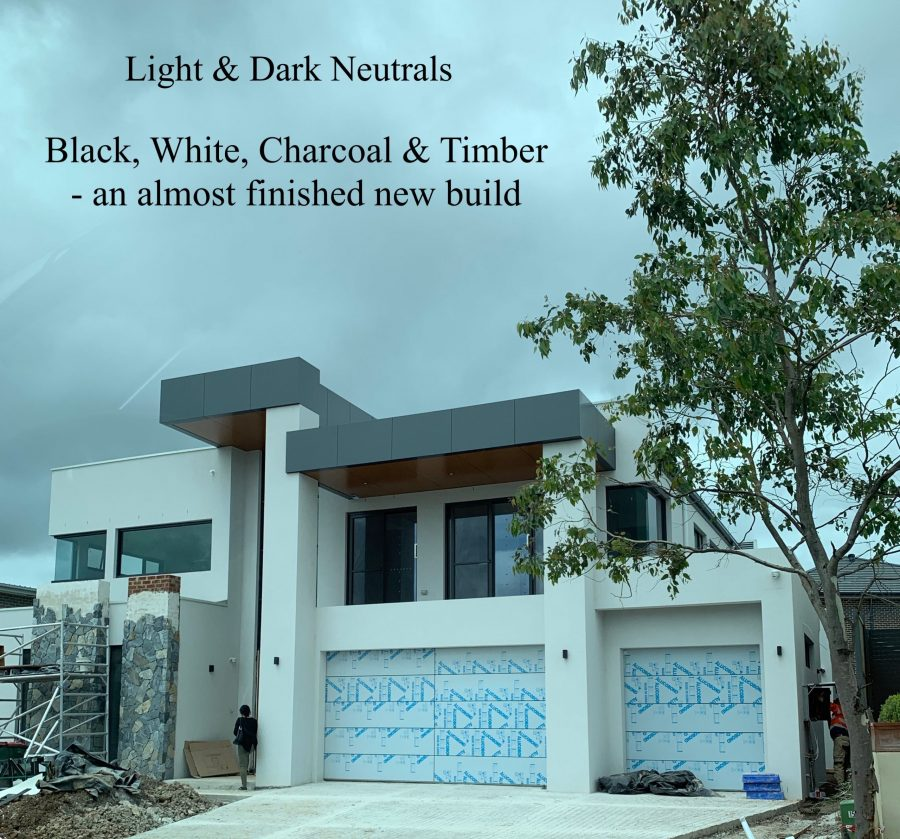 Light & Dark Neutral Exterior Colour Scheme