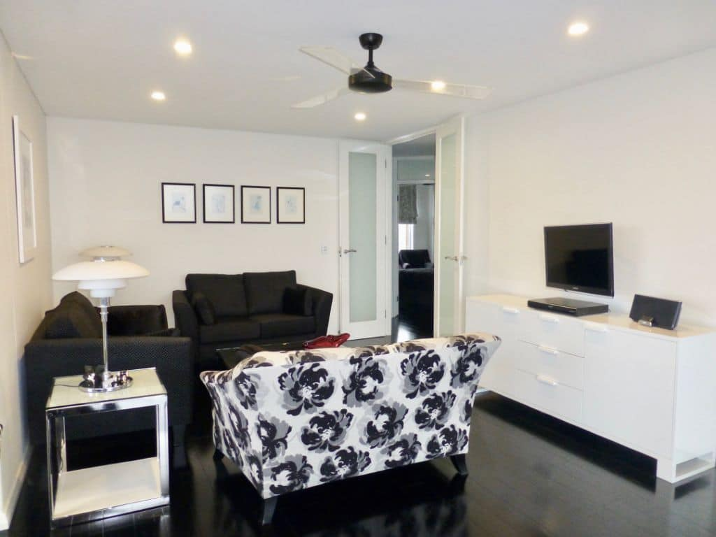 Art Deco Inspired Black and White Living Space