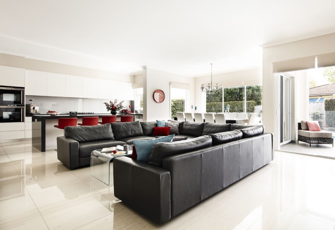 Contemporary Open Plan Kitchen-Dining-Living Space