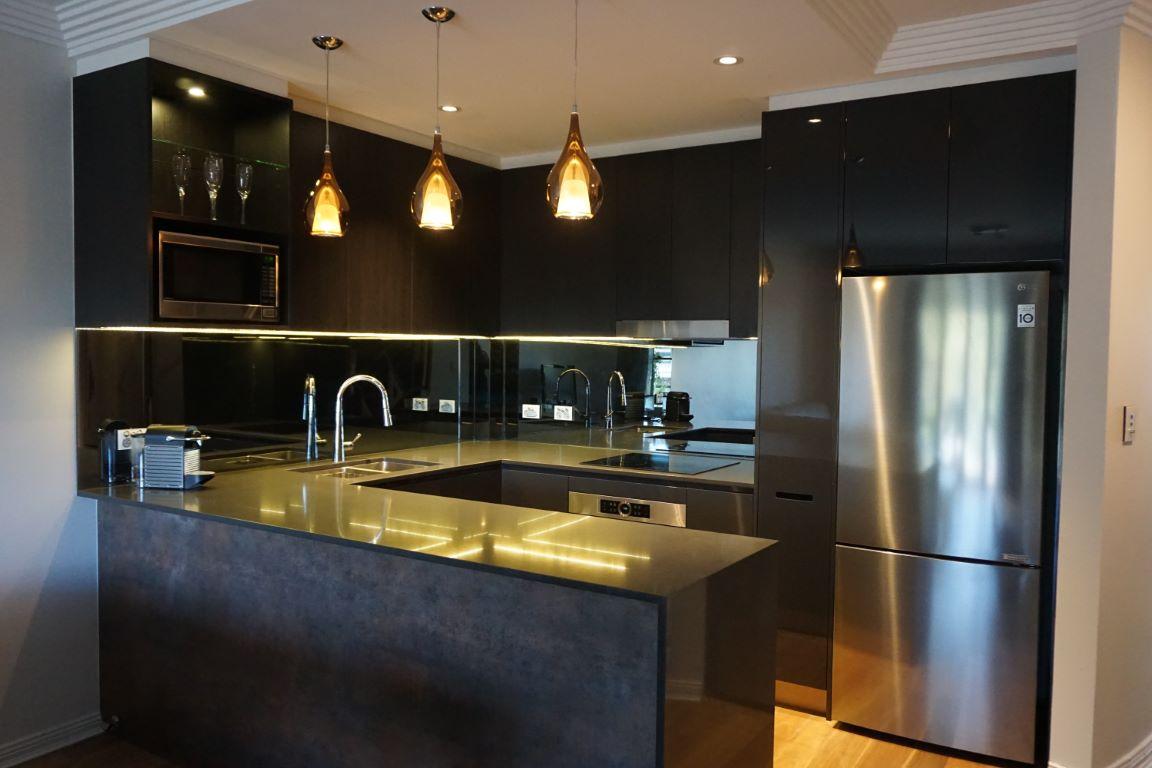 Dramatically Dark Contemporary Kitchen