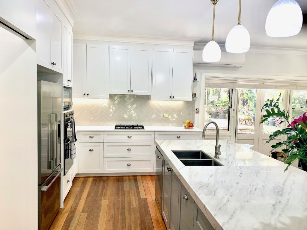 Hamptons Style Kitchen with Subway Tiles