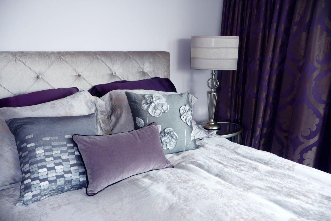 Luxe Master Bedroom in Romantic Purples