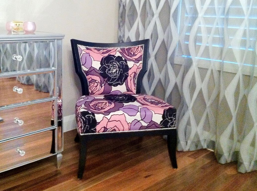 Master Bedroom Feature Chair Vignette