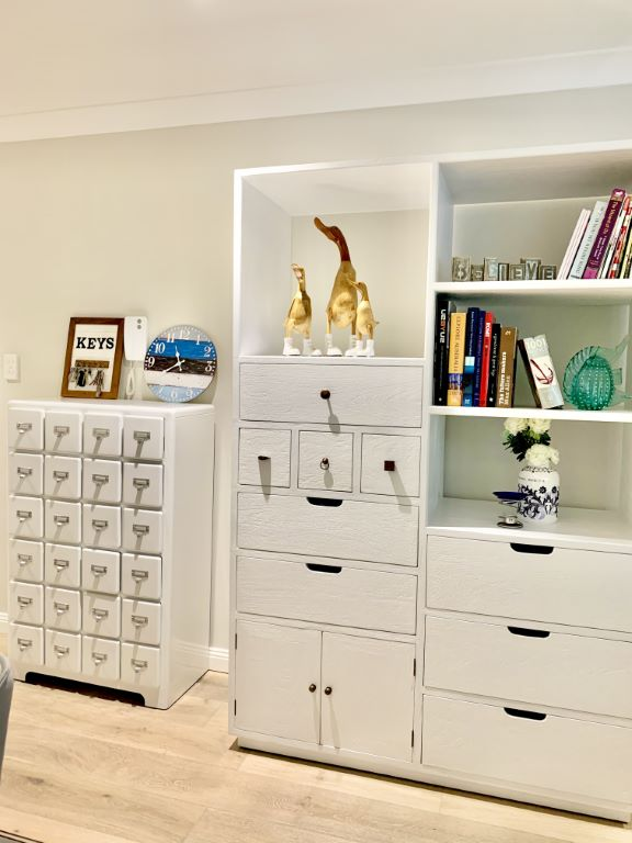 Modern Living Storage-Display Cases in White